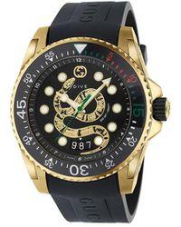 Gucci Dive 45mm Horloge - Zwart