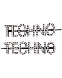 Ashley Williams Lot de deux barrettes Techno - Noir
