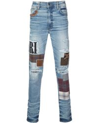 Amiri Skinny Patchwork Jeans - Blue
