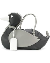 Thom Browne Fun-mix Deerskin Duck Bag - Gray