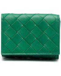 Bottega Veneta Бумажник С Плетением Intrecciato - Зеленый