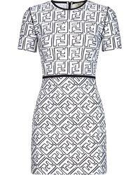 Fendi Платье С Принтом Ff Из Коллаборации С Joshua Vides - Белый