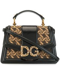 Dolce & Gabbana Geweven Draagtas - Bruin