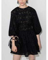 Matteau The Crochet アイレットレース ミニドレス - ブラック