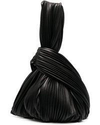 Nanushka Jo プリーツ ハンドバッグ - ブラック