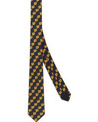 Fendi Cravate à logo all-over - Bleu
