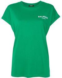 Balmain ロゴ Tシャツ - グリーン