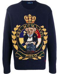 Ralph Lauren ロゴ セーター - ブルー