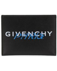 Givenchy Metallic Logo Card Holder - Black