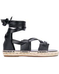 Ports 1961 Tie Around Espadrille Sandals - Black