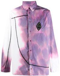 A_COLD_WALL* Bruised Print Overlock Shirt - Purple