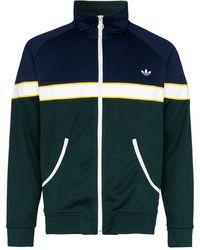 adidas Sportjacke in Colour-Block-Optik - Blau