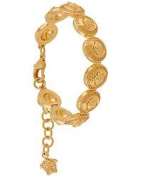 Versace Logo Detail Adjustable Bracelet - Metallic