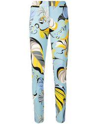 Emilio Pucci - Printed Slim-fit Trousers - Lyst