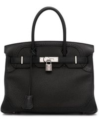 Hermès Bolso shopper Ghillies Birkin 30 2015 pre-owned - Negro