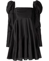 Macgraw Romantic Puff Sleeve Dress - Black