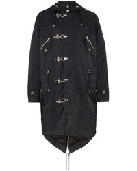 Balmain フーデッドコート - ブラック
