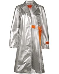 Heron Preston Belted Fitted Coat - Gray