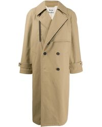 Acne Studios Trench à coupe oversize - Neutre