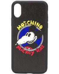 Moschino Iphone X Hoesje Met Print - Zwart