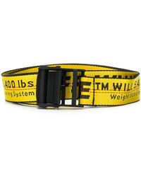 Off-White c/o Virgil Abloh - Classic Industrial Belt Yellow Black - Lyst