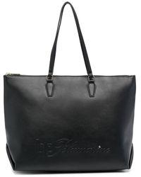 Blumarine エンボスロゴ ハンドバッグ - ブラック