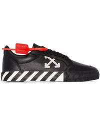 Off-White c/o Virgil Abloh Vulc Striped Low-top Canvas Trainers - Black
