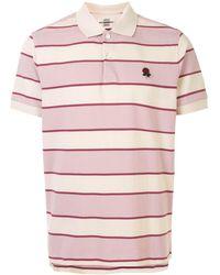 Kent & Curwen Striped Cotton Polo Shirt - Pink