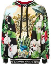 Dolce & Gabbana プリント パーカー - グリーン