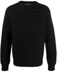 Les Hommes ラウンドネック セーター - ブラック