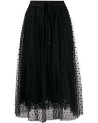 Dolce & Gabbana Lace And Tulle Skirt - Black