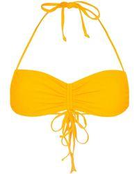Frankie's Bikinis Bandeau Bikinitop - Geel