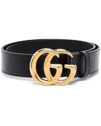 Gucci Cinturón con hebilla GG - Negro