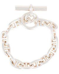 Hermès Bracelet Chaine D'Ancre - Métallisé