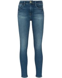 FRAME Jeans skinny Le High Straight Double Needle - Blu