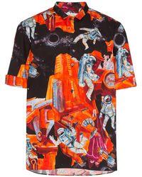 Valentino Camisa Infinite City - Naranja