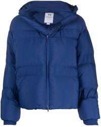 Y-3 ジップアップ パデッドジャケット - ブルー
