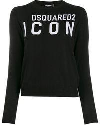 DSquared² Топ Icon С Логотипом - Черный