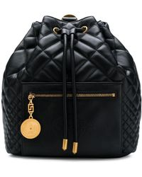 Versace Quilted Backpack - Black