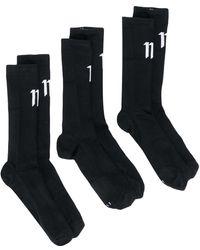 Boris Bidjan Saberi 11 ロゴ靴下 - ブラック