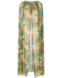 Amir Slama Платье С Прозрачной Накидкой - Зеленый