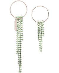Justine Clenquet Pendientes con apliques de jades - Verde