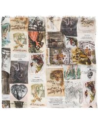Faliero Sarti - Frayed Hem Printed Scarf - Lyst