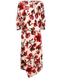 Vivienne Westwood フローラル ドレス - レッド