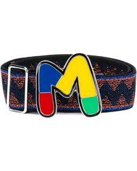 M Missoni Ремень С Эмалированным Логотипом - Синий