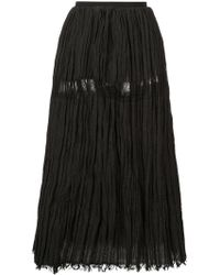Uma Wang - Frayed Midi Skirt - Lyst
