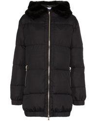 Moschino Дутая Куртка С Оторочкой Из Искусственного Меха - Черный