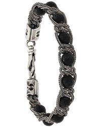 Emanuele Bicocchi Bracelet chaîne orné de perles - Métallisé