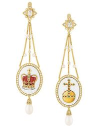 Axenoff Jewellery - Crown & Sovereign's Orb Drop Earrings - Lyst