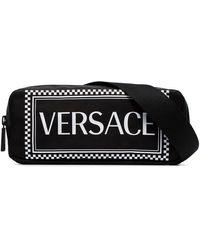 Versace Поясная Сумка С Принтом Логотипа - Черный